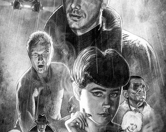Blade Runner tribute illustration A3 print