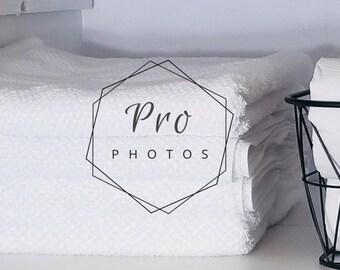 Linen Closet Stock Photo | Professional Organizing | Linen Closet | Wire Basket | Towels