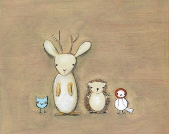 jackalope and friends | print