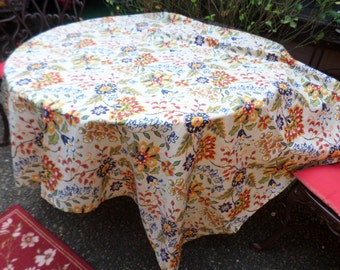 """Gorgeous Colorful Floral 52""""x70"""" Poly/Cotton Tablecloth/Table Linen/Cover-Blue/Red/Yellow/Orange/Green"""
