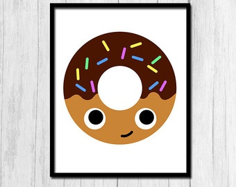 Cute Office Decor Digital Download Printable Wall Art Cute Food Art Donut Art Doughnut Art Cute Office Art Instant Download 8x10 Printable