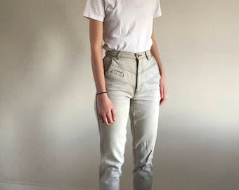 vintage high waisted stone jeans / 80s gitano jeans / cropped jeans | 25W size 2