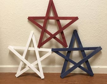 Large wood star  • christmas star
