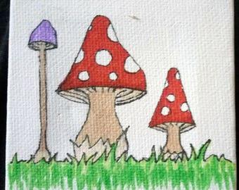 Mini deco setting - little fairy mushroom