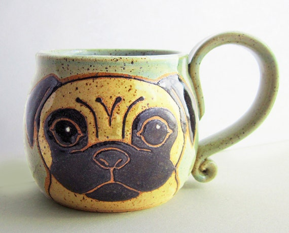 Pug Mug Pottery Great Mother S Day Gift Pottery Mug Pug