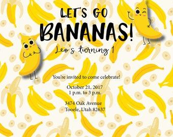 Let's Go Bananas! — Party Invitation