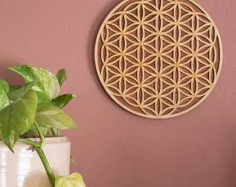 Flower of Life Decoration Flower of Life Sign Flower of Life Art Sacred Geometry Mindfulness Gift Meditation Gift Laser Cut Wall Art