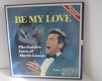 Be My Love Album Set Collectors Edition Record Album Set, Mario Lanza, The Golden Voice of Mario Lanza, Readers Digest