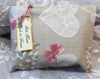 Romantic clutch bag, entirely handmade