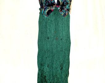 Bohemian Summer ReFashioned Halter dress / Neckties / Broomstick Skirt