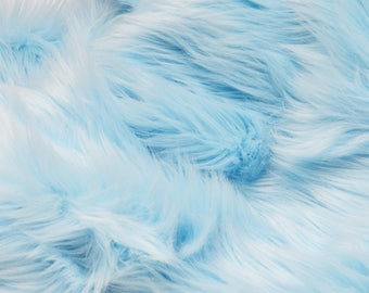 Baby Blue Fur Craft Squares: Sky Blue Fur, Baby Blue Faux Fur, Baby Blue Fake Fur,  Baby Blue Fur, Pastel Blue Fur