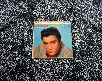 "Elvis Presley - Loving You Soundtrack 4 Song Vintage Vinyl 45 7"" Record. 1957 Lonesome Cowboy Rockabilly Elvis Single Record With Sleeve"