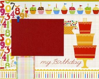 My Birthday - 12x12 Premade Scrapbook Page