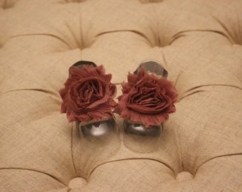 baby shoes, baby girl, girl shoes, baby sandals, pink, pink flower, gray, Rose Petals