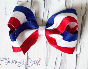 Patriotic Princess Bow- Fourth of July