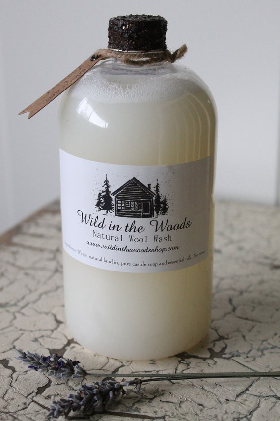 16oz Wool Wash - Cedar wood and Lavender - All natural