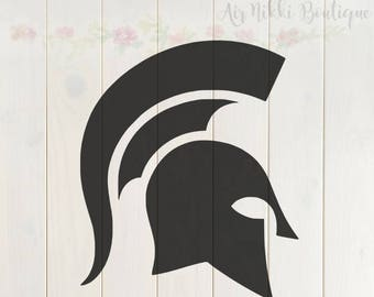 Spartan SVG, PNG, DXF files, instant download