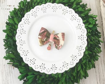 Winter Floral Very Matilda Bow