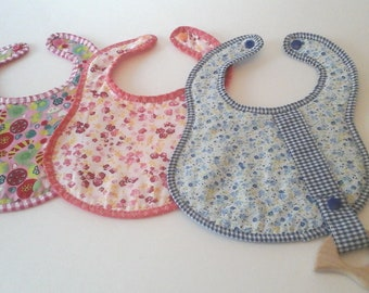 Baby girl bibs Set, birth gift idea