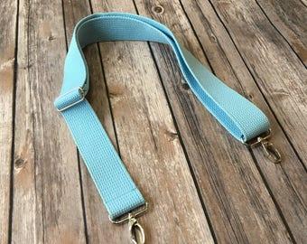 "27-49"" Adjustable Long Strap in Light Blue 1.5"" width"