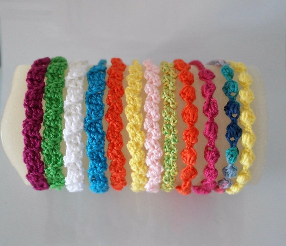 3 Bracelets crochet patterns, Summer bracelet pattern, Girls ...
