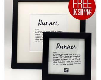 Framed Print. Runner Definition.