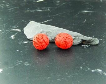 1 Perle de Cinabres rouge