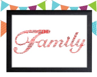 Personalized Gift Family Gift For Family Housewarming Gift Wall Art Wall Prints Wall Art Wall Decor Personalised Gift Wall Art Prints