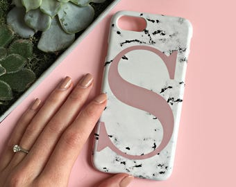 marble initial phone case iphone 8