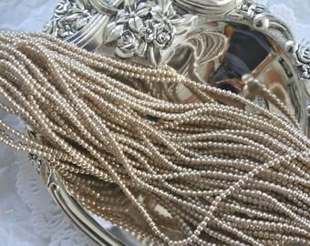 Vintage 2.5mm Pearl Bead Strings, Faux Pearls