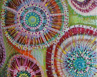 Abstract Art Earthy Swirls Canvas ..... Original Textured Painting