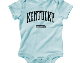 Baby Kentucky Represent Romper - Infant One Piece - NB 6m 12m 18m 24m - Kentucky Baby - 3 Colors