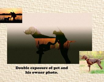 Portrait printable / custom hunters portrait / pet portrait / personalized gift