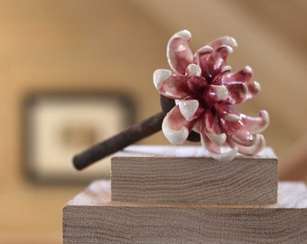 Dunkel rosa Blume Dekor