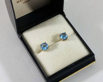 Earrings Silver 925 crystal stone light blue SO337