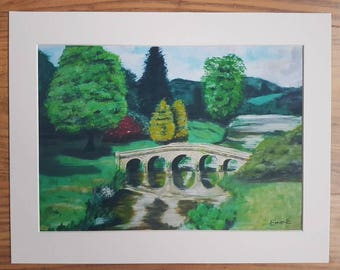 Stourhead bridge art print