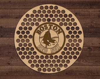 Boston Red Sox Beer Bottle Cap Holder USA Laser Engraved Boyfriend Baseball Gift for Him, Gift for Dad, Groomsmen gift, Christmas Gift