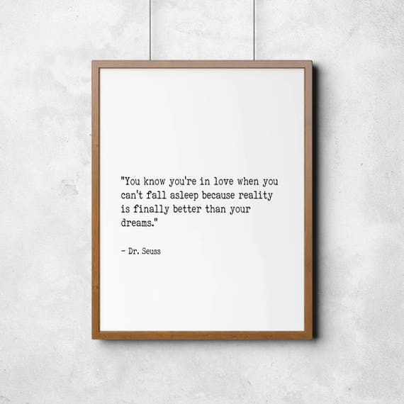Literary Quote Dr Seuss Love Quote Printable Art Romance