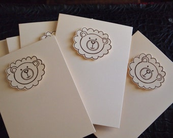 Note Cards Teddy Face