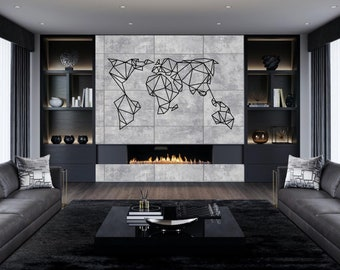 World map wall art etsy gumiabroncs Choice Image