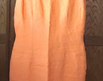 Vintage 1970's Sake Brand, Linen Sheath Dress.