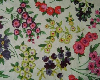 Magical Garden Toss Flower Cotton Fabric by the yard