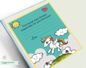 Printable Bookplates-unicorn Book Plates-Baby Shower Bookplate-INSTANT DOWNLOAD-Bookplates-Animals Bookplates-Bookplate,Book-themed