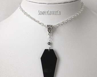 Gothic Coffin Necklace
