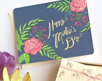 Mothers Day Card Floral - Mothers Day Cards - Floral Mothers Day Card - Handmade Mother's Day Card - Happy Mothers Day - Mother's Day Gift
