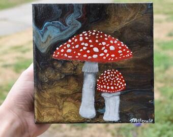 Amanita Muscaria Mini Fluid Painting
