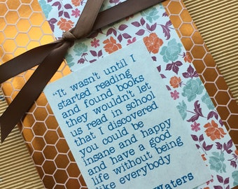 Quotebook - Copper Honeycomb Pattern - John Waters Quote - Reading Journal - Diary for Readers