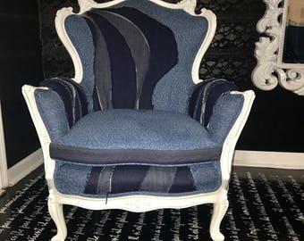 Denim Dream Club Chair / Year-end Clearance