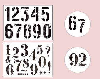 Clear Stamp Set Stamps Number Vintage Arabic Numbers Transparent