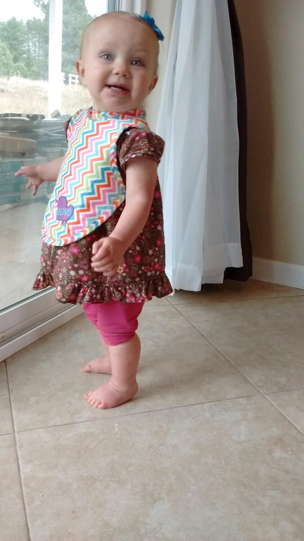 Baby Lätzchen Nähen Muster Digital mit Ärmeln junge oder